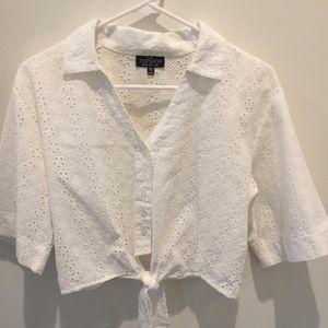 White Button Down Short Sleeve Shirt